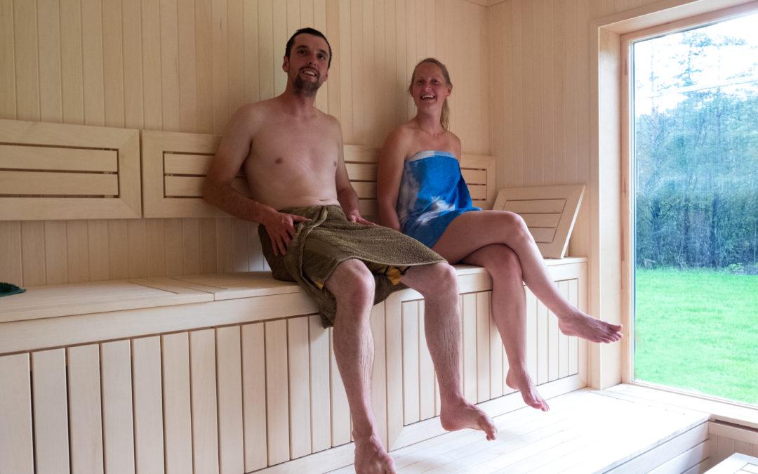 Fredag = yoga + sauna